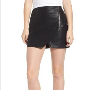 Blank NYC leather Moto skirt. Size 26.